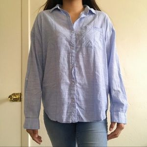 FOREVER21 | striped button up shirt